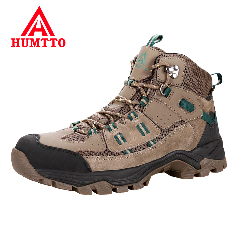 HUMTTO Brand Professional Outdoor Hiking Shoes Genuine Leather Trekking Mountain Sneakers Waterproof Camping Men Shoes Big Size цены онлайн