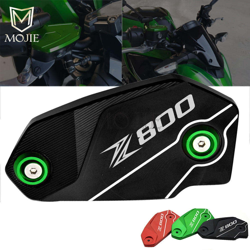 For Kawasaki Z800 Z 800 2013-2016 2014 2015 Motorcycle Brake Fluid Reservoir Tank Cover CNC Aluminum Brake Fluid Reservoir Cap motorcycle brake fluid oil reservoir cup tank