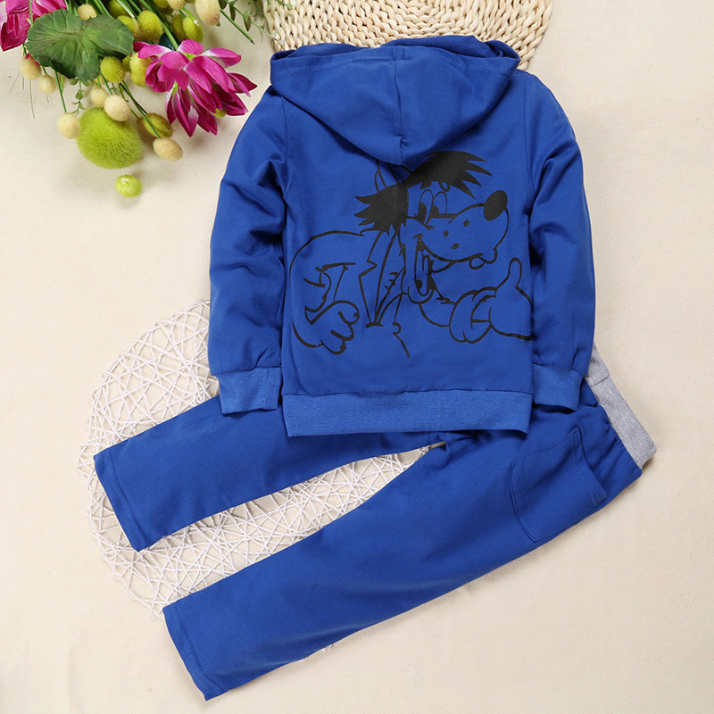2016-Cool-Sets-Kids-Clothing-Sets-Boys-Girls-Sports-Suits-Wolf-Printing-Zipper-Blue-Hoodies-Pants-Suits-for-90-130cm-Children-1