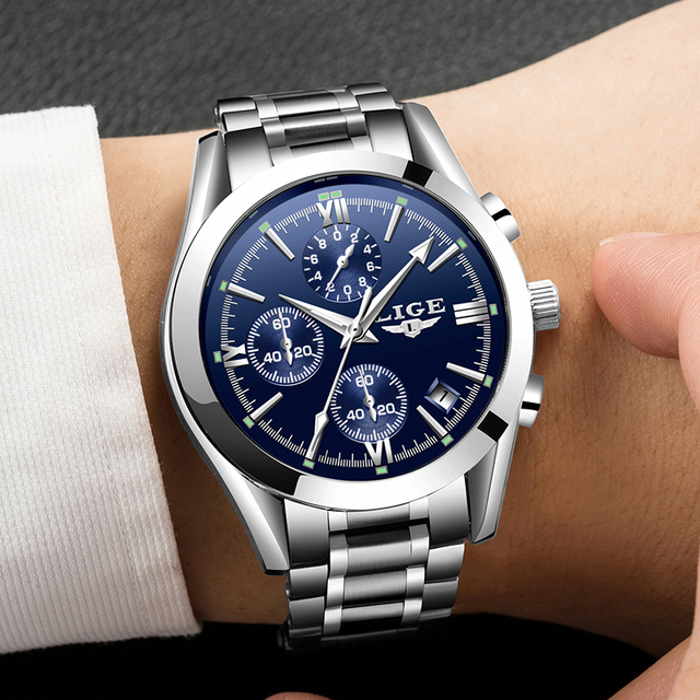 Relogio Masculion Men Top Luxury Brand LIGE Military Sport Watches Men's Quartz Clock Male Full Steel Casual Business WristWatch