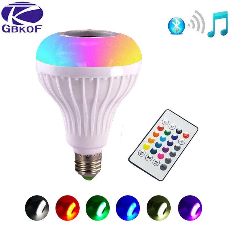 E27 Smart RGB RGBW Drahtlose Bluetooth Lautsprecher Birne Musik Spielen Dimmbare Led-lampe Licht Lampe mit 24 Tasten Fernbedienung