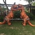 НАДУВНЫЕ Динозавров T REX Костюм Blowup Миру Юрского Парка Динозавров Хэллоуин Надувной костюм Партии костюм для взрослых