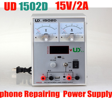 High Quality 15V 2A Adjustable Digital DC Power Supply 1502D for Mobile Phone Repair Power Test Regulated Power Supply kuaiqu high precision adjustable digital dc power supply 60v 5a for for mobile phone repair laboratory equipment maintenance