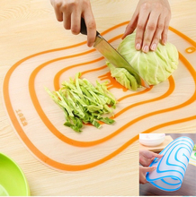 1 pcs  Kitchen Chopping Tools Flexible Transparent Cutting Board PP Material