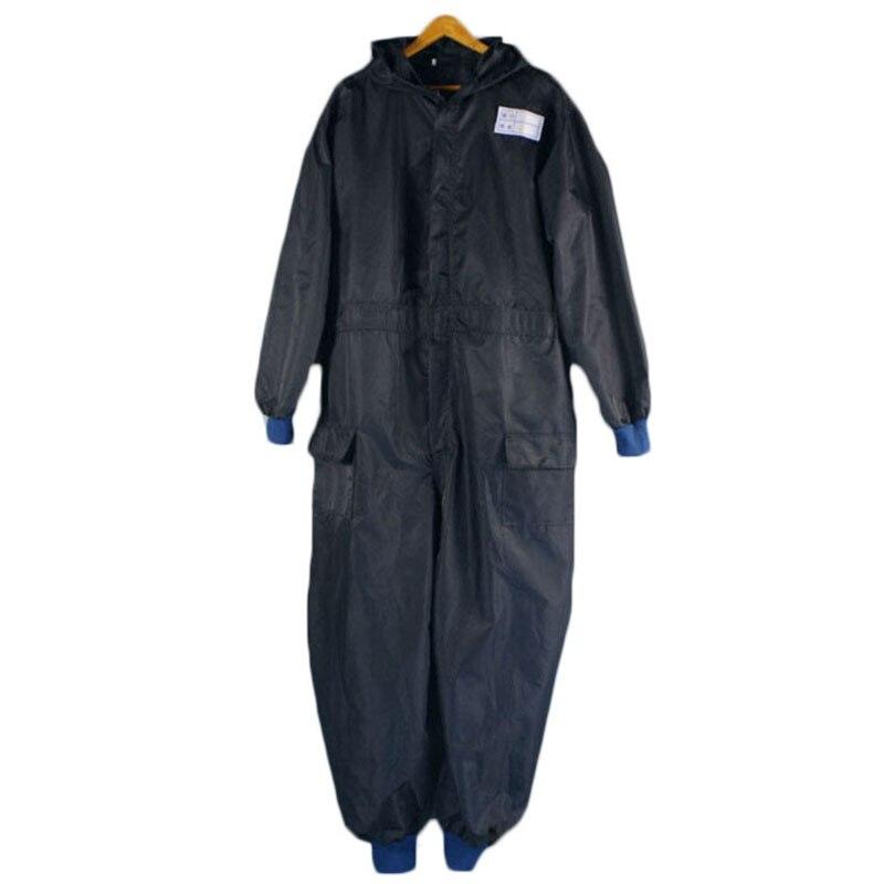 imágenes para Hombres encapuchados ropa de Seguridad ropa de Trabajo overoles de manga Larga a prueba de viento impermeable trajes de protección ropa de lavado de coches