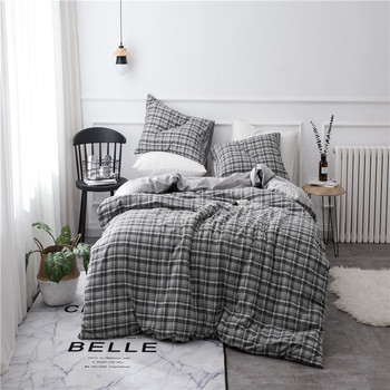 4pcs Duvet Cover Sets Pillowcase Sheet Flat Sheet Bed Cover Bedspread QuiltBedding Sets King Queen Winter Simple Style Fashion