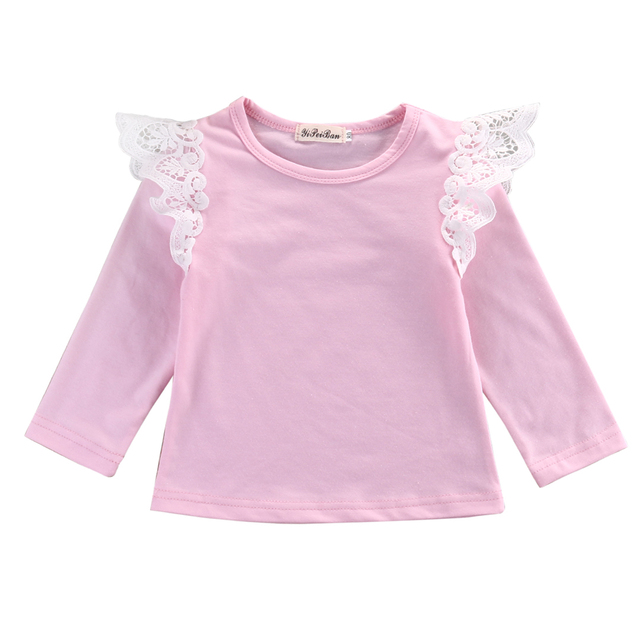Newborn Baby Girls Long Sleeve Blouse