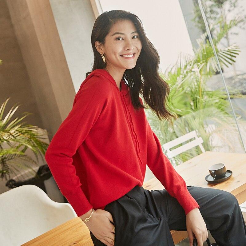98607fbe3 Inverno Mulheres outono Camisola Com Capuz 2018 Moda Coreano Tops de Manga  Longa Blusas de Malha Jumper de Pullover Solta Fêmea Sólida em Pullovers de  ...