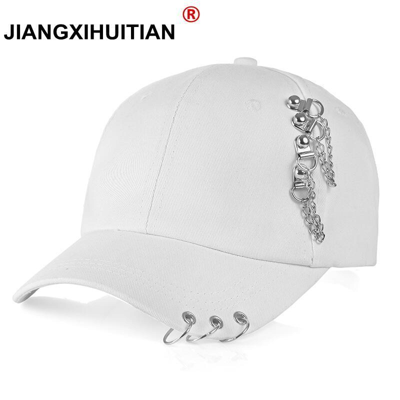 wholesale Adult BTS Casual Solid Adjustable Iron Ring   Baseball     Caps   Snapback   Cap   Casquette Hats Fitted Casual Gorras Dad Hats