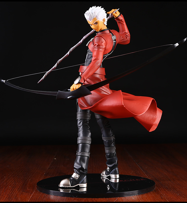 25cm Japanese Anime Saber Alter Fate Stay Night Archer Blade Sword 1/7 PVC Scale Action Figure Collection Model Toys Brinquedos