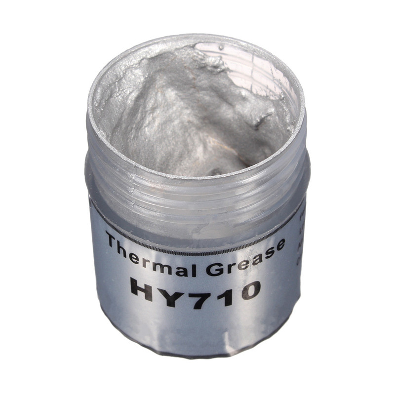 High Quality HY710 10g Silver Silicone Compound Thermal Conductive Grease Cooling Cooler Silicone Grease For CPU Heatsink cpu cooling conductonaut 1g second liquid metal grease gpu coling reduce the temperature by 20 degrees centigrade