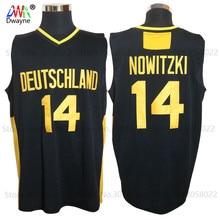ФОТО 2017 mens dwayne dirk nowitzki jersey cheap throwback basketball jersey #14 deutschland team basket jerseys retro trikots shirt