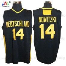 2017 Mens Dwayne Dirk Nowitzki Jersey Cheap Throwback Basketball Jersey #14 Deutschland Team Basket Jerseys Retro Trikots Shirt