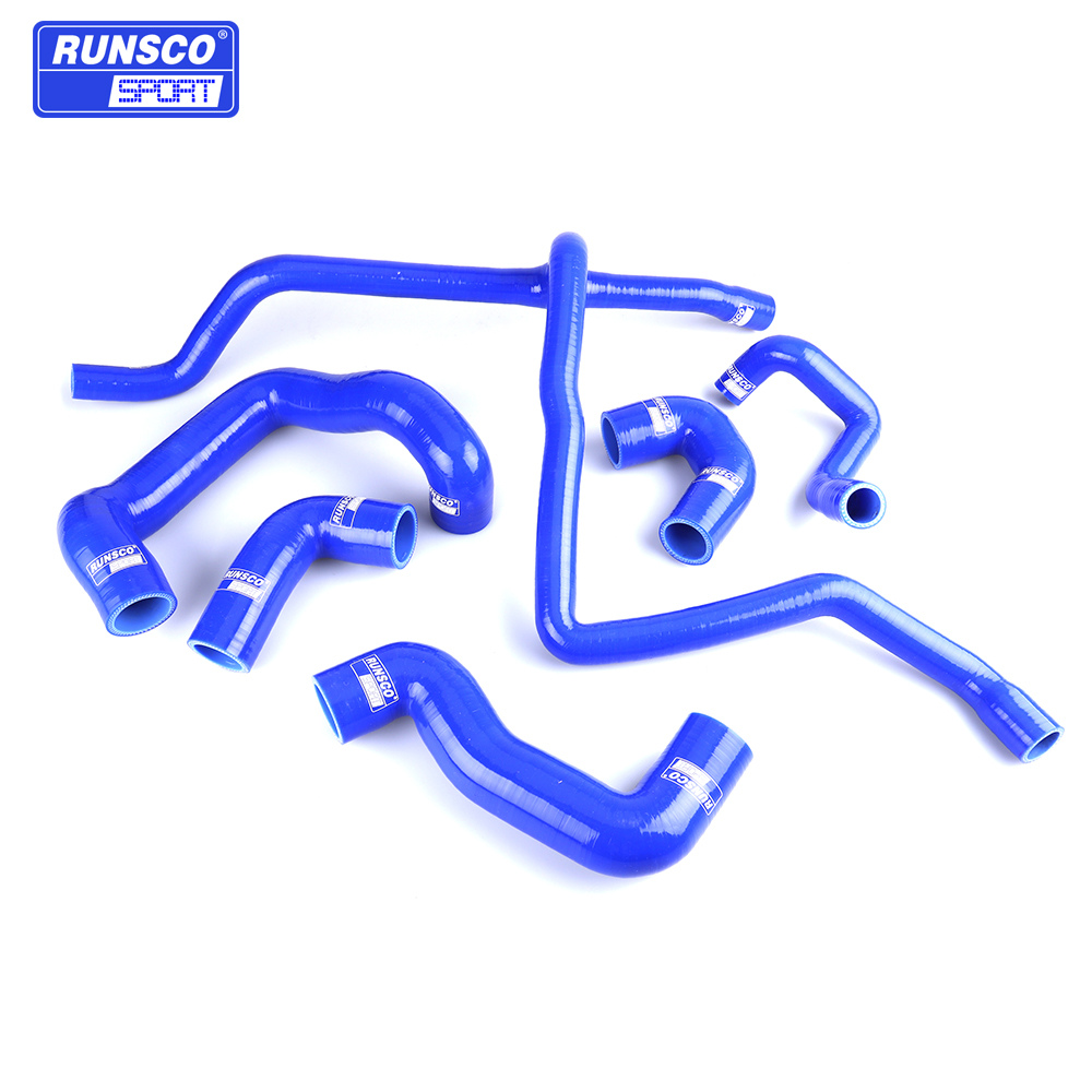 Water Silicone Intercooler Turbo Radiator Hose Kit For BMW E30 M20 325 325i 6cy 1988-1993 6Pcs/set Blue Red Black image