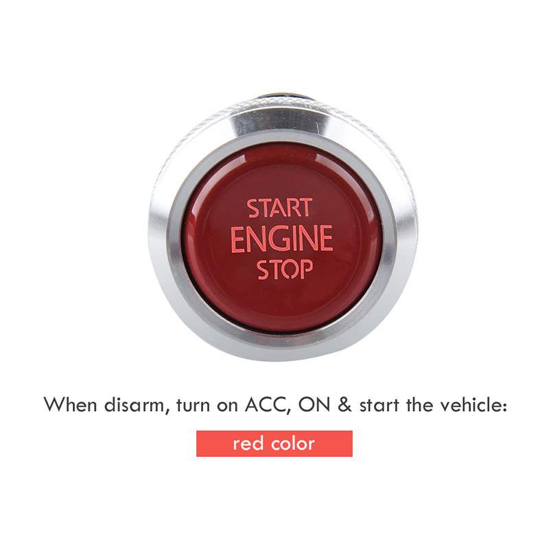 EASYGUARD Remplacement push start stop bouton pour ec002 série P4 style, rouge