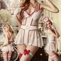 Include 6 pcs  Lingerie Free Shipping Lingerie Cosplay Conjunto De Langerie Ropa Sexi Erotica Mujer 365
