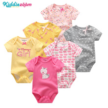 6PCS/lot Newborn Baby Girl Clothes Cotton 0 12M Baby Bodysuit bebe Swimsuit Summer Baby Boy Clothes Body for Infants New 0 1Year