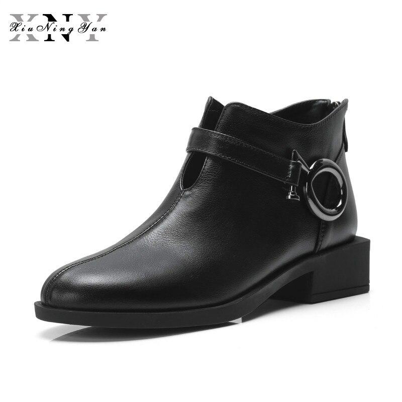 Bottes Pour Souple Chelsea De En Mode Noir Femmes Xiuningyan Cheville Femme Marque Cuir Véritable Chaussures tshCodQxBr