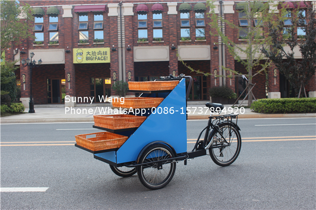 Электрический закуски корзину розничный велосипед Продажа фруктов и овощей Электрический для трехколесного мотоцикла еда корзину Фрукты