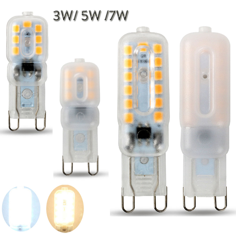 Mini G9 Bulb LED Corn Light 2835 3W 5W 7W Lights For Chandelier 14LEDs 22LEDs 32LEDs 110/220V Replace 20W 40W 60W Halogen Lamp