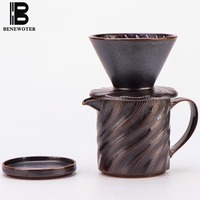 300ml Japanese Vintage Coarse Pottery Coffee Filter Cup Heat resistant Ceramic Coffee Filter Drip Mugs Coffee Tea Tools Manually