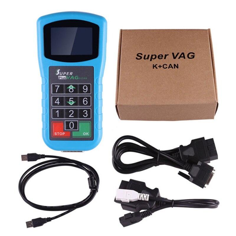 Super VAG K + CAN Plus 2.0 Scanner de Diagnóstico VAG Ferramenta de Correção de Quilometragem Para Audi V * W Auto Chave programador