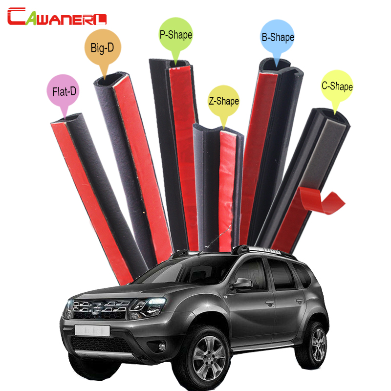 Cawanerl Car Sealing Strip Kit Rubber Weatherstrip Seal Edge Trim Noise Control Self-Adhesive For Dacia Duster Lodgy Sandero