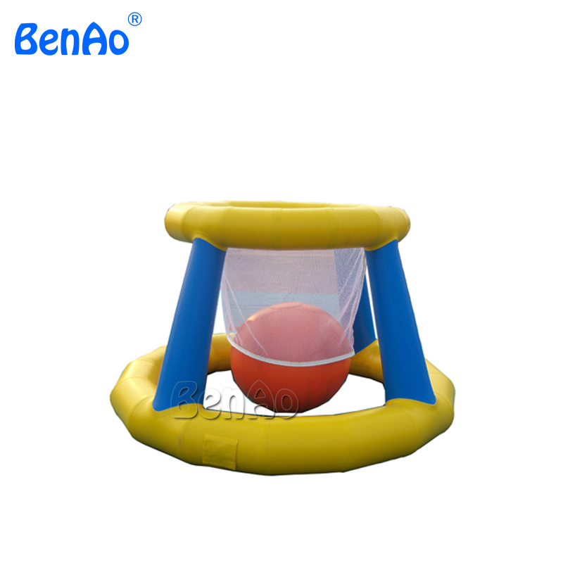 W085  water sports game inflatable  water basketball hoop / floating water games environmentally friendly pvc inflatable shell water floating row of a variety of swimming pearl shell swimming ring
