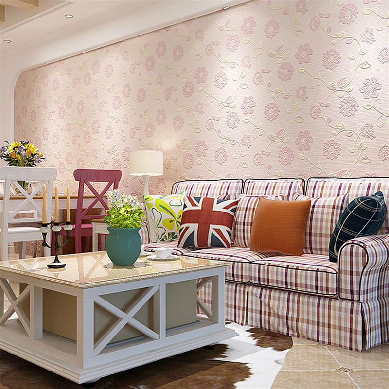 ФОТО beibehang Holy hundred non-woven living room wallpaper 3D romantic pastoral bedroom wall paper TV back ground papier peint photo