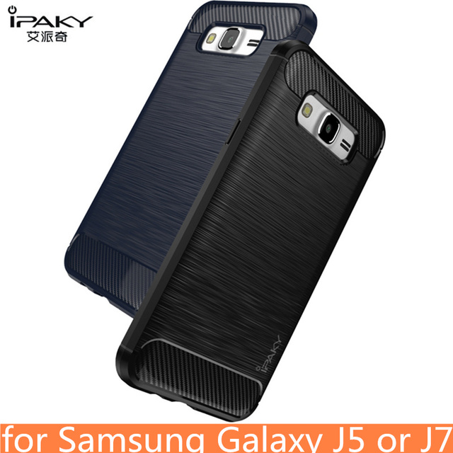 hot sale online 73b08 a09af US $4.24 15% OFF|for Samsung J7 2016 Case Original IPAKY Silicone Carbon  Fiber Hybrid Protective Cover for Samsung Galaxy J5 2016 Case cover-in  Fitted ...