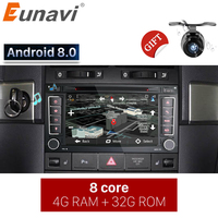 Eunavi 2 Din Android 8.0 Car DVD Player For VW/Volkswagen/Touareg/Transporter T5 With Canbus Wifi GPS Navigation Bluetooth Radio