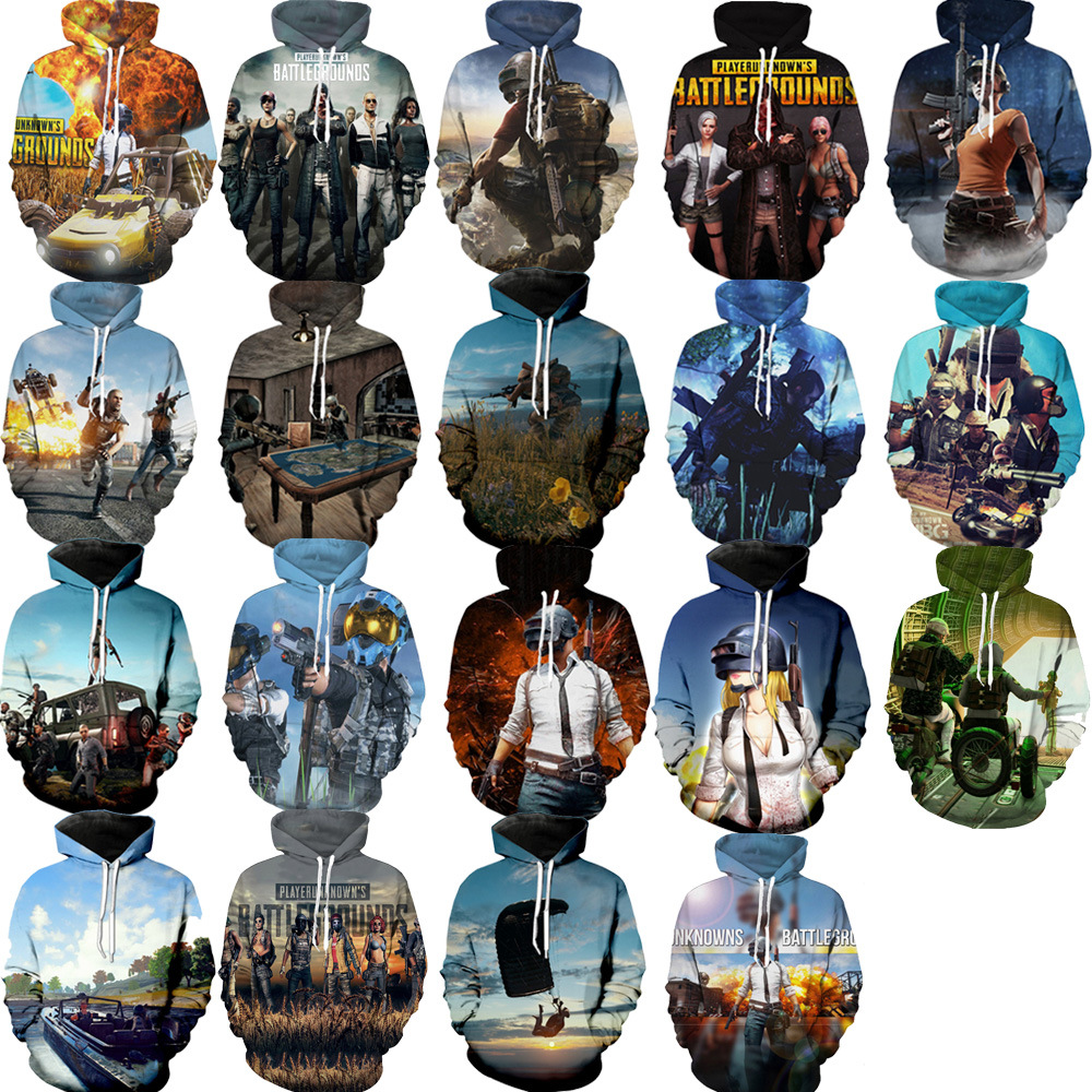 PUBG Men and women Costume Game PUBG Sweatshirts Cosplay Autumn European and American PUBG 3D Printing Jacket Hooded sweater