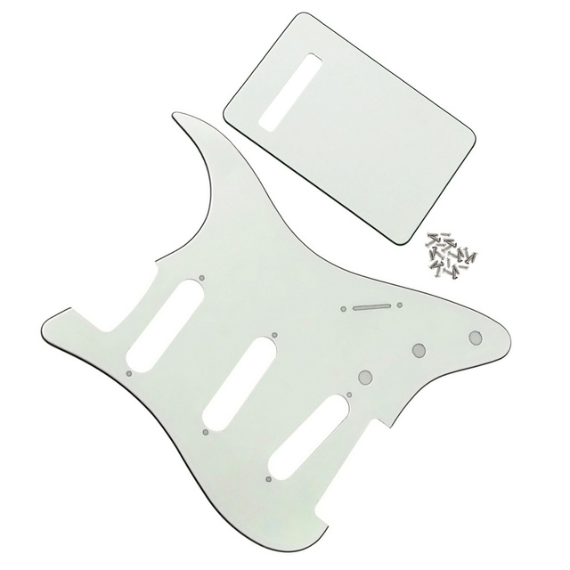 Ivory 3Ply Guitar Pickguard SSS Back Plate NO Mounting Holes ...