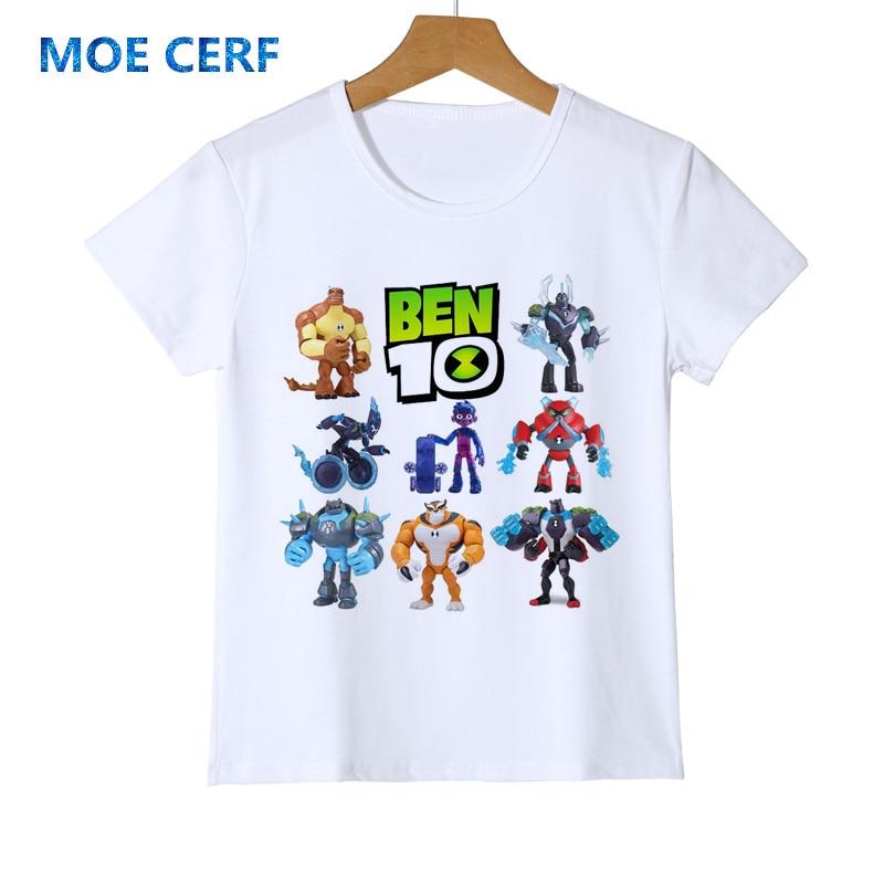 Kids T-Shirt Cool Toddler Boys Ben-10 Children Fashion Summer Y21-7