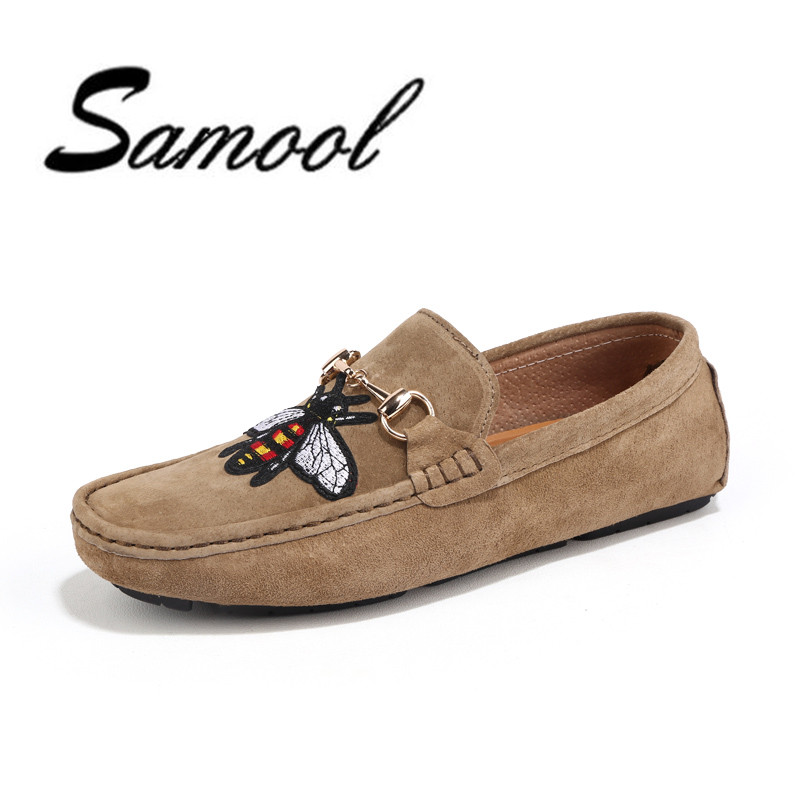 2018 slip on casual men embroidery rose animal loafers spring and autumn mens moccasins fashion Driving  men's flats shoes lx5 dekabr new 2018 men cow suede loafers spring autumn genuine leather driving moccasins slip on men casual shoes big size 38 46