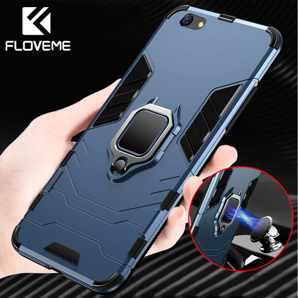 FLOVEME Shockproof Case For Xiaomi Redmi Note 5 4X 6 Pro Ring Holder Case For Xiaomi Mi 8 Lite Redmi 5 Plus Pocophone F1 Cover