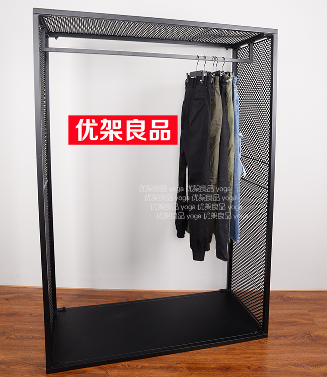 Clothing shop, clothes rack, display rack, iron net, clothing rack, hanger, landing rack, home shelf, clothes rack