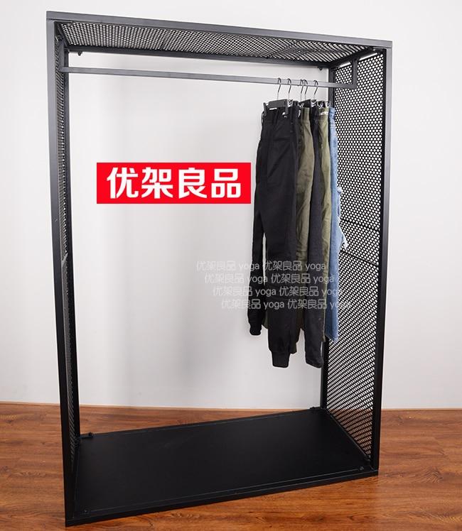 Clothing shop, clothes rack, display rack, iron net, clothing rack, hanger, landing rack, home shelf, clothes rack цены онлайн
