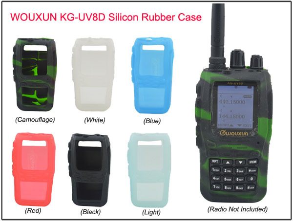 WouXun KG UV8D Silicon Rubber Case For Wouxun KG-UV8D Two-way Radio(Black,Red,White,Camoufalge,Blue,Light 6colors For Options)