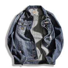 M-6Xl Large Size Denim Jackets Men Casual Fashion Spring Jean Jacket New Japanese Fashion Loose Jeans Outerwear A1719