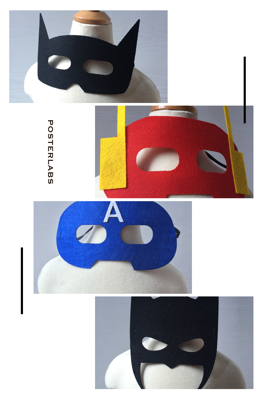 felt superhero masks batman captain amrican flash catwoman wolf