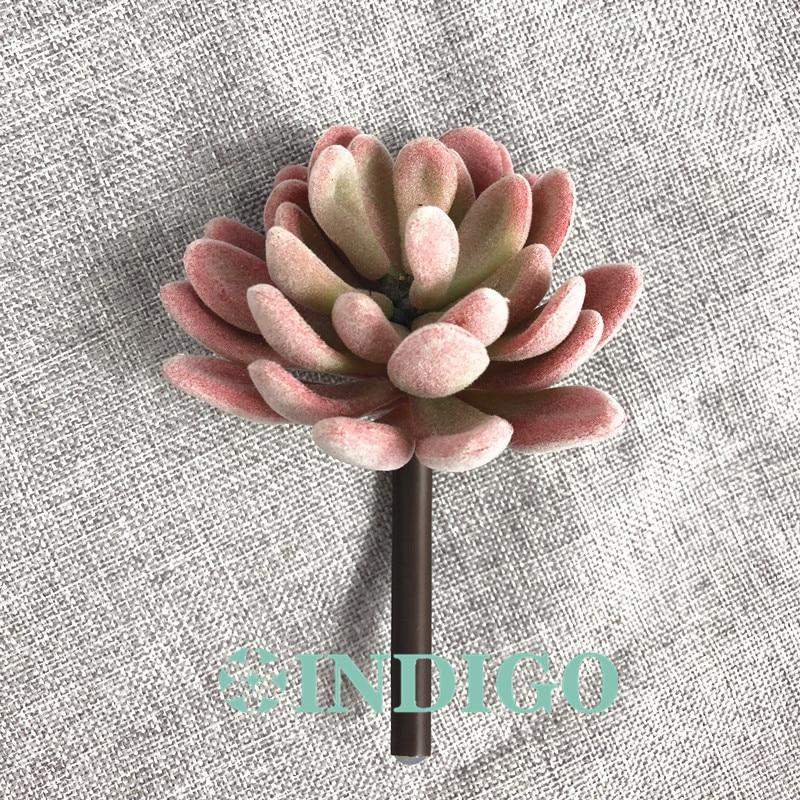 INDIGO- 5 հատ Plush Lotus Echeveria Elegance արհեստական - Տոնական պարագաներ - Լուսանկար 4