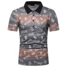 Summer Tops Letter print Polo Shirt Men Short sleeves Tees Casual Men's Clothes Loose Men Polo Shirt New