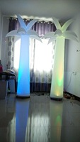 2 4 M H Amazing Led Lighted Inflatable Palm Trees Stage Decoration For Party Graduation Event