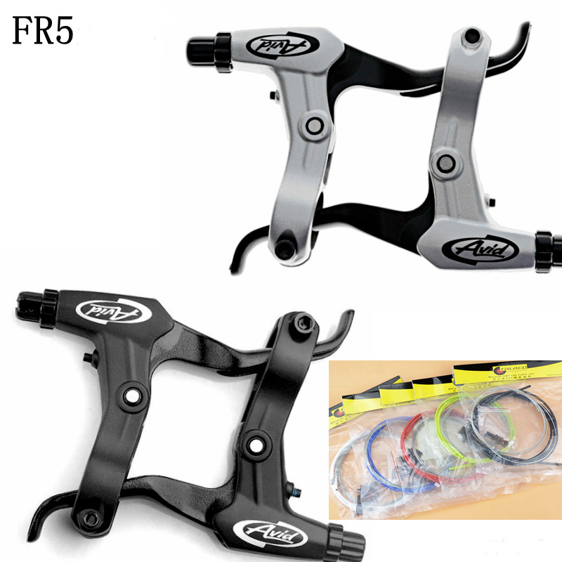 AVID FR5 Mtb Bike Brake Levers Bicycle v brake Handle With Bike Brake Cable for BB5 BB7 Bike Accessory avid bb7 bicycle brake caliper disc fr7 mountain mtb bike brake front rear hs1 g3 160 180mm rotor different to bb5 bicycle part
