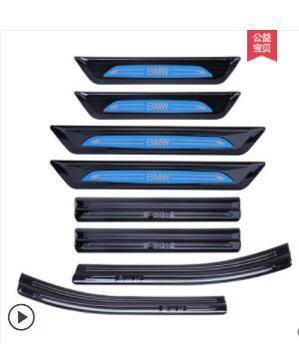 สำหรับ BMW X1 ภายใน doorsill ต้อนรับเหยียบพิเศษเหยียบ 2019 ใหม่ X1 ตกแต่งอุปกรณ์สแตนเลส