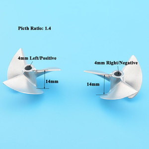 Image 4 - High Quality D36mm Rc 4mm Propeller CNC Machined 2/3 blades Prop Alloy Propeller/Screw For 4mm Shaft Rc Boat