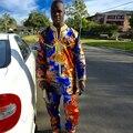 2016 Африканский Человек Традиционные Riche Базен Вышивка Высокого Качества Dashiki С Брюк Брюки Мода Стиль Плюс Размер PH30