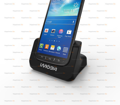 hot sale Cover-mate Dual Cradle Desktop Dock battery Charger for Samsung Galaxy S4 Active with Audio out