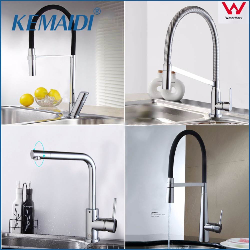 KEMAIDI AU New Arrival Kitchen Faucet Pull Out Chrome Cast 360 Degree Rotating Cold And Hot Kitchen Taps Mixer Griferia Cocina lepin 05063 05035 star classic model wars building blocks 4016pcs death ucs star building block bricks toys kits compatible